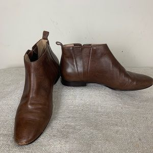 Cole Haan Grand OS Brown Leather Flat Booties